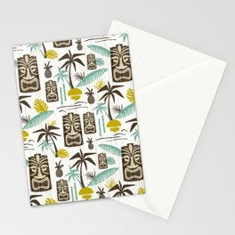 Island Tiki - White Stationery Cards
