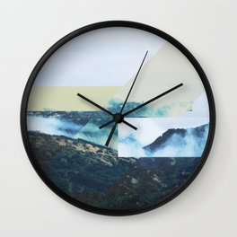 Misty in the Evening (II) Wall Clock