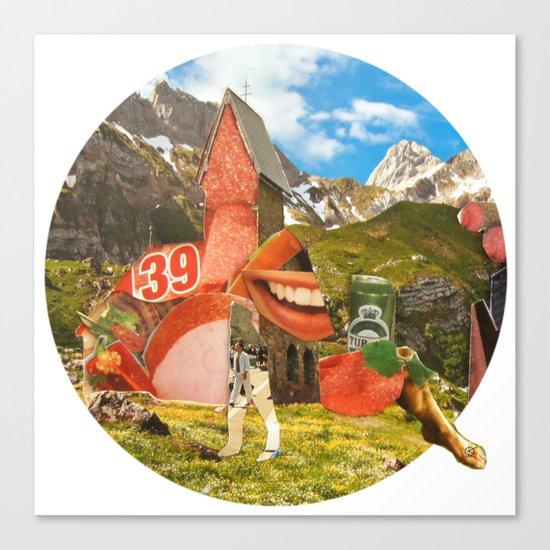 Surreala Alpina 28 · Crop Circle Canvas Print