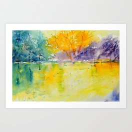 watercolor 219041 Art Print
