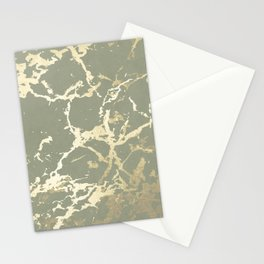 Kintsugi Ceramic Gold on Green Tea Stationery Cards