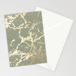 Kintsugi Ceramic Gold on Green Tea Stationery Cards