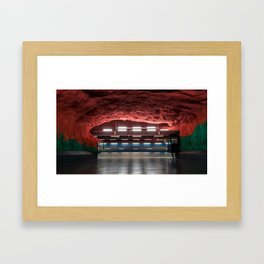 Solna Centrum Metro Station in Stockholm, Sweden V Framed Art Print