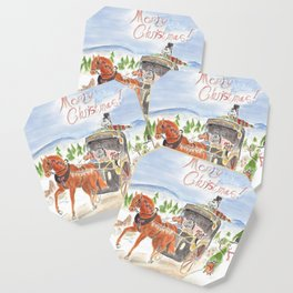 Christmas in Horse Valley Coaster