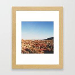Outside the Red Rocks Framed Art Print