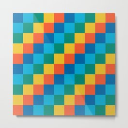 Color me happy - Pixelated Pattern in bright colors Metal Print