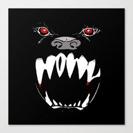 Howl - dark apparel variant Canvas Print