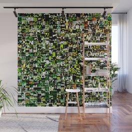 Jumbled Text Pattern Wall Mural