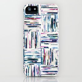 Quilted LINEA Abstract Paper Collage iPhone Case