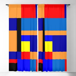 Mondrian #2 Blackout Curtain