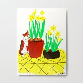 Potted Daffodils Metal Print