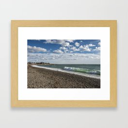 Pebble beach 1.12.20 Framed Art Print