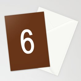 NUMBER 6 (WHITE-BROWN) Stationery Cards