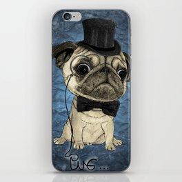 Pug; Gentle Pug (color version) iPhone Skin