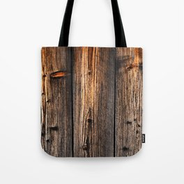 old wood table Tote Bag