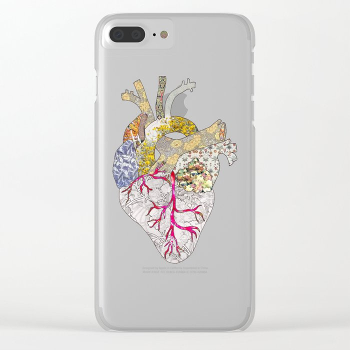 my heart is real Clear iPhone Case