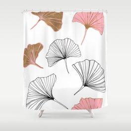 Ginkgo Leaves Pattern Shower Curtain