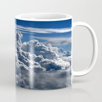 clouds Mugs featuring clouds by  Agostino Lo Coco