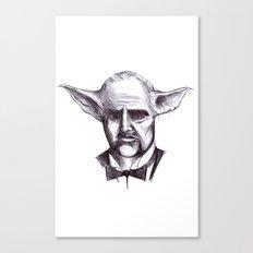 Yodafather Canvas Print