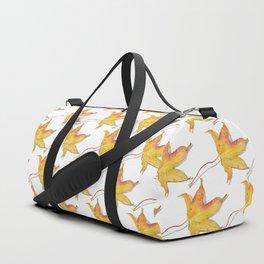Yellow autumn leaf watercolour Duffle Bag