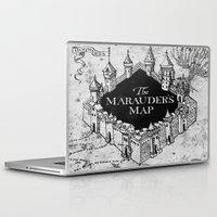 marauders Laptop & iPad Skins featuring Marauders Map by bimorecreative