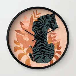 Blooming Tiger Wall Clock