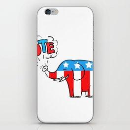 American Elephant Vote Drawing iPhone Skin