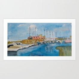Corralejo´s Harbor Art Print