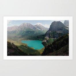 Grinnell Lake, Glacier National Park Art Print
