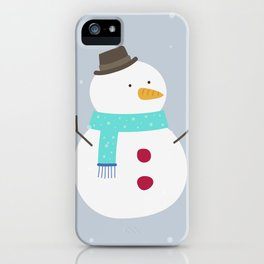 Snow winter man iPhone Case