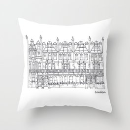 London Sloane Square Throw Pillow