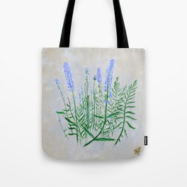 Lavender Plant Grows in the Garden Tote Bag