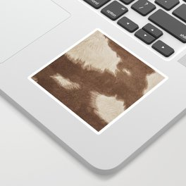 Cowhide Brown and White Sticker