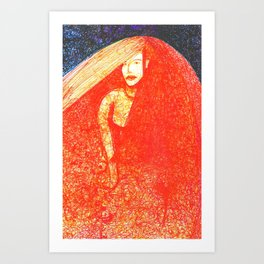 Red Bride Art Print