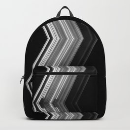 Side by Side - White on Black Minimalist Geometric Art Backpack