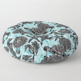 Sea Beauty, Ocean Beauty Floor Pillow