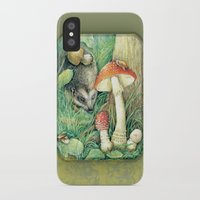 mushrooms iPhone & iPod Cases featuring Mushrooms by Natalie Berman