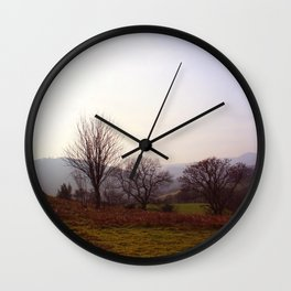 Dusk On The Hills Wall Clock
