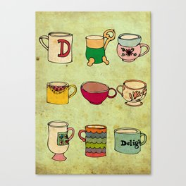 My Mugs! Canvas Print