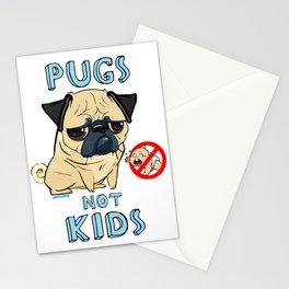 Pugs Not Kids Stationery Cards