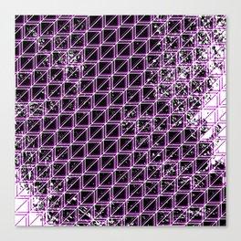 Geometric distressed pattern purple Canvas Print