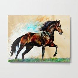 Blood Bay Horse Metal Print