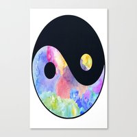 ying yang Canvas Prints featuring Ying Yang by Johnny Rockets