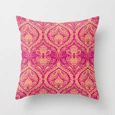 Simple Ogee Pink Throw Pillow