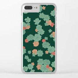 Succulents - Large Clear iPhone Case