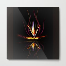 Abstract perfection - Magical Light and Energy Metal Print