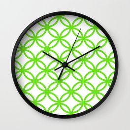 Interlocking Lime Green Wall Clock