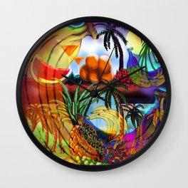 Tropica4 Psychedelic Bananas Wall Clock