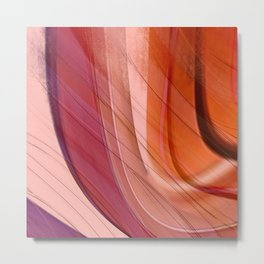 Colorgradient purple and orange Metal Print