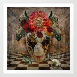Venetian Mask in Fantasy World Art Print